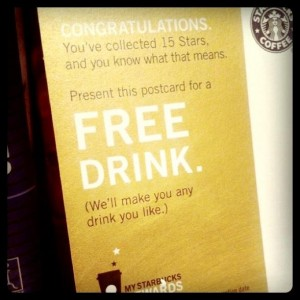 Starbucks Free Drink Card